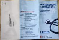 HEB Helsekonferanse brosjyre for Rokkan-senteret