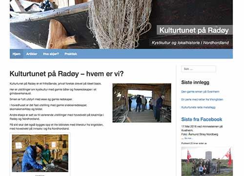 Kulturtunet på Radøy, skjermdump
