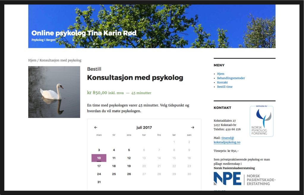 kokstadpsykolog.no - timebestilling fra birkelandweb.no
