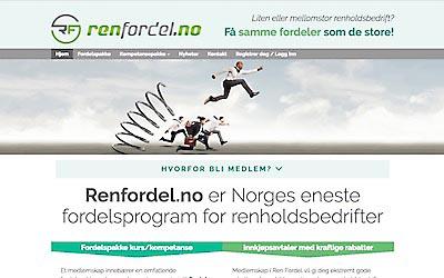 Ren Fordel, fordelsprogram for renholdsbedrifter, skjermdump.